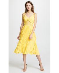Glamorous - Ruffled Pleats Dress - Lyst