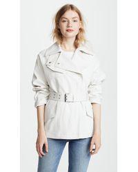 Belstaff - Clonmore Cotton Linen Jacket - Lyst