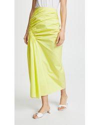 Pringle of Scotland - Gathered Poplin Skirt - Lyst