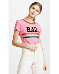Pam & Gela - Pink Rad Rainbow Ringer Tee - Lyst