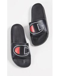 2365b4cc3ec Champion - Ipo Black Womens Sandals - Lyst