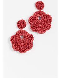 BaubleBar - Oversized Mixed Bead Statement Drop Earrings - Lyst