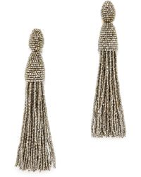 Oscar de la Renta - Tassel Earrings - Lyst