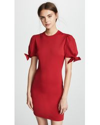 RED Valentino - Bow Sleeve Detail Dress - Lyst