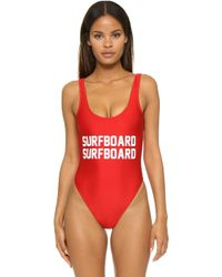 Private Party - Surfboard Surfboard One Piece Bathing Suit - Lyst