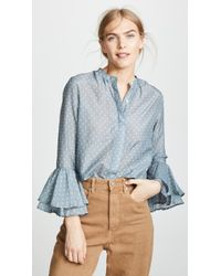 Birds Of Paradis - The Victoria Bell Sleeve Blouse - Lyst