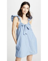 Riller & Fount - Evelyn Tie Front Mini Dress - Lyst