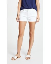 7 For All Mankind - Roll Up Shorts - Lyst