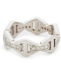 WALTERS FAITH - Keynes Diamond Hexagon Stackable Ring - Lyst