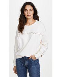 Mikoh Swimwear - Kilohana Lace Up Sweatshirt - Lyst