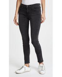 James Jeans Twiggy 5 Pocket Skinny Jeans - Gray
