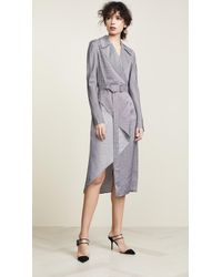 Dion Lee - Check Bias Fold Trench Dress - Lyst