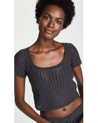 She Made Me - Sita Cotton Crochet Top - Lyst