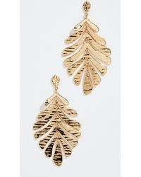 Kate Spade - A New Leaf Statement Earrings - Lyst