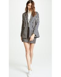 Jonathan Simkhai - Structured Double Breasted Blazer - Lyst