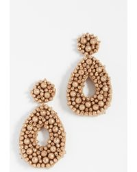 BaubleBar - Fully Beaded Oval Earrings - Lyst