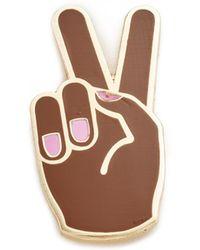 Georgia Perry - Peace Hand Lapel Pin - Lyst