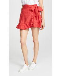 Blank NYC - Linen Wrap Skirt - Lyst