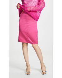 85090e9d07d806 MILLY Duchess Satin Tucked Ball Skirt in Red - Lyst