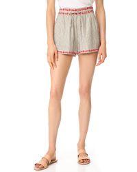Ella Moss - Marini Embroidered Shorts - Lyst