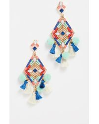 Rebecca Minkoff - Geo Stone Statement Earrings - Lyst