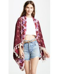 Free People - Bali Wrapped In Blooms Shawl Robe - Lyst