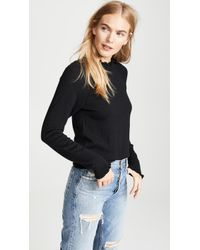 Free People - Needle And Thread Merino Pullover In Black - Lyst
