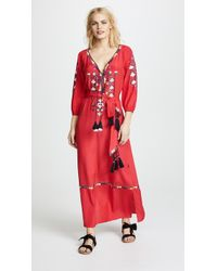Figue - Lulu Red Kaftan Dress - Lyst