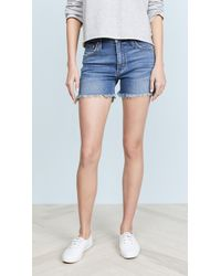 James Jeans - Mimi High Rise Frayed Shorts - Lyst