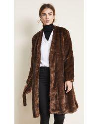 FRAME - Faux Mink Robe Coat - Lyst