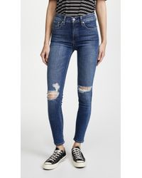 Rag & Bone - High Rise Skinny Jeans - Lyst