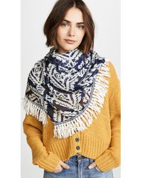 Tory Burch - Tapestry Geometric Oblong Scarf - Lyst
