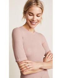 Enza Costa - Rib Half Sleeve Pullover - Lyst