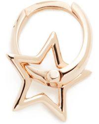 Kismet by Milka - Sheriff Star Hoop Single Earring - Lyst