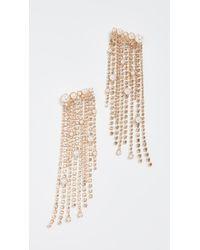 Elizabeth Cole - Fringe Earrings - Lyst