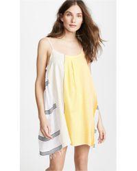 lemlem - Zena Short Slip Dress - Lyst