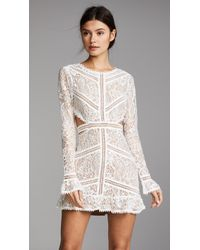 For Love & Lemons - Emerie Cutout Dress - Lyst
