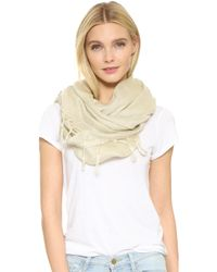 Love Quotes Linen Fringe Scarf - Natural
