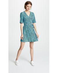 13025d142b2b9 Lyst - Diane Von Furstenberg Bevin Dress in Blue