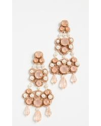 Tory Burch - Beaded Chandelier Earring - Lyst
