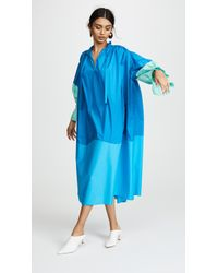 Vika Gazinskaya - Relaxed Fit Maxi Dress With Pleated Sleeves - Lyst