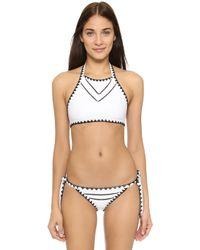 Same Swim - The It Girl Halter Bikini Top - Lyst