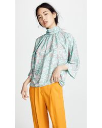 Marc Jacobs - Gathered Mock Neck Top - Lyst