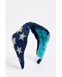 NAMJOSH - Denim Star Studded Headband - Lyst
