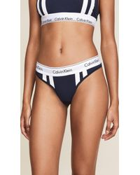 bc887dfb11a2 Calvin Klein Bottoms Up Thong in Blue - Lyst