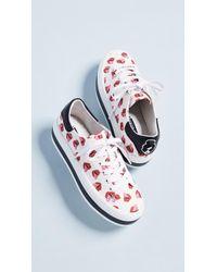 Alice + Olivia - X Donald Roberston Ezra Lips Sneakers - Lyst