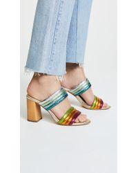 Alice + Olivia - Lori Double Strap Sandals - Lyst