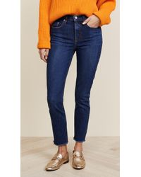 Nobody Denim - The True Highrise Slim Straight Ankle Jean - Lyst