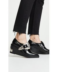 Toga Pulla - Buckled Wedge Oxford Shoes - Lyst
