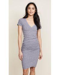 191b3bf8f25 Lyst - Monrow Maternity Stripe Long Sleeve Dress in Gray